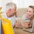 幸せ · カップル · ショッピング · を · ソファ · ホーム - ストックフォト © wavebreak_media