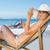 にやにや · 女性 · サングラス · 帽子 · 海 · 美しい - ストックフォト © wavebreak_media