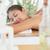 bella · bruna · massaggio · donna - foto d'archivio © wavebreak_media