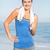 портрет · счастливым · Фитнес-женщины · полотенце · изолированный · белый - Сток-фото © wavebreak_media