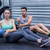 musculaire · couple · abdominale · balle · exercice · portrait - photo stock © wavebreak_media
