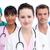 retrato · grave · médicos · equipo · blanco · trabajo - foto stock © wavebreak_media