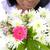 belle · femme · fleurs · belle · rouge · femme - photo stock © wavebreak_media