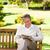 nyugodt · idős · férfi · olvas · újság · park - stock fotó © wavebreak_media