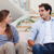 casal · discussão · casa · ver · sessão · sofá - foto stock © wavebreak_media