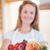 портрет · женщину · фрукты · корзины · кухне - Сток-фото © wavebreak_media