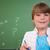 cute · meisje · permanente · omhoog · Blackboard · school - stockfoto © wavebreak_media