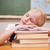 lány · tankönyvek · portré · aranyos · iskolás · lány · néz - stock fotó © wavebreak_media