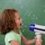 Seitenansicht · Schülerin · schreien · Megaphon · Klassenzimmer · Mädchen - stock foto © wavebreak_media