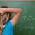 wenig · Schülerin · Denken · zurück · Kopf · Tafel - stock foto © wavebreak_media