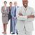 glimlachend · zakenman · armen · gevouwen · team · achter - stockfoto © wavebreak_media