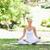 jeune · femme · séance · yoga · poste · pelouse · beauté - photo stock © wavebreak_media