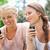 női · barátok · telefon · szépség · nyár · zöld - stock fotó © wavebreak_media