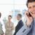 Manager · lachen · Handy · Büro · Lächeln · Telefon - stock foto © wavebreak_media