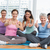 women gesturing thumbs up in yoga class stock photo © wavebreak_media