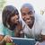 heureux · couple · comprimé · supermarché · affaires · femme - photo stock © wavebreak_media