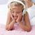 女の子 · ベッド · 音楽を聴く · ヘッドホン · 音楽 · 家 - ストックフォト © wavebreak_media