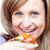 canlı · kadın · pizza · beyaz · gıda - stok fotoğraf © wavebreak_media