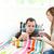 gondoskodó · barátnő · beteg · fiúbarát · tabletták · nappali - stock fotó © wavebreak_media