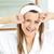 portre · sarışın · kadın · yukarı · banyo · ev - stok fotoğraf © wavebreak_media