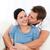 счастливым · человека · целоваться · подруга · расслабляющая · диван - Сток-фото © wavebreak_media