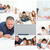 collage of a family enjoying moments together at home stock photo © wavebreak_media