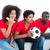 ideges · futball · ventillátor · piros · fehér · sport - stock fotó © wavebreak_media