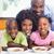 montage · gelukkig · gezin · ontbijt · vrouw · glimlach · man - stockfoto © wavebreak_media