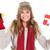 mutlu · Noel · kadın · kış · giyim · yalıtılmış - stok fotoğraf © wavebreak_media