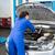 monteur · tablet · garage · Blauw · werken · werknemer - stockfoto © wavebreak_media