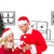 composite image of young festive couple stock photo © wavebreak_media
