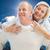 composite image of happy mature man giving piggy back to partner stock photo © wavebreak_media