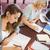 diákok · könyvtár · oktatás · káprázatos · nők · könyv - stock fotó © wavebreak_media