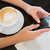 coffee with a heart and hands holding a phone stock photo © wavebreak_media
