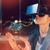 businesswoman using virtual reality headset stock photo © wavebreak_media