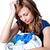 不幸 · 女性 · 洗濯 · 孤立した · 白 · 家 - ストックフォト © wavebreak_media