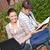 пару · студентов · книга · ноутбука · кампус - Сток-фото © wavebreak_media