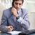 fiatal · üzletember · jegyzetel · telefon · munka · telefon - stock fotó © wavebreak_media