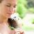 mooie · jonge · vrouw · bloem · schoonheid · mensen - stockfoto © wavebreak_media