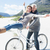 casal · equitação · bicicleta · praia · noiva · manusear - foto stock © wavebreak_media