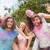 gelukkig · vrienden · gedekt · poeder · verf - stockfoto © wavebreak_media