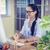 happy young designer working at desk stock photo © wavebreak_media