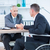 businessman in wheelchair shaking hands with colleague stock photo © wavebreak_media