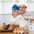baba · oğul · mutfak · ev · gülümseme - stok fotoğraf © wavebreak_media