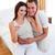 radosny · kobieta · w · ciąży · bed · mąż · domu · rodziny - zdjęcia stock © wavebreak_media