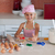 belle · jeune · fille · travail · cuisine · pouce · up - photo stock © wavebreak_media