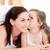 adorável · little · girl · beijando · mãe · cama · família - foto stock © wavebreak_media