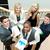 vergadering · trap · zakenvrouw · tablet · koffiekopje · business - stockfoto © wavebreak_media