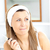 retrato · bela · mulher · lustro · banheiro · casa · mulher - foto stock © wavebreak_media