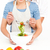 człowiek · Sałatka · sympatia · kuchnia · domu - zdjęcia stock © wavebreak_media